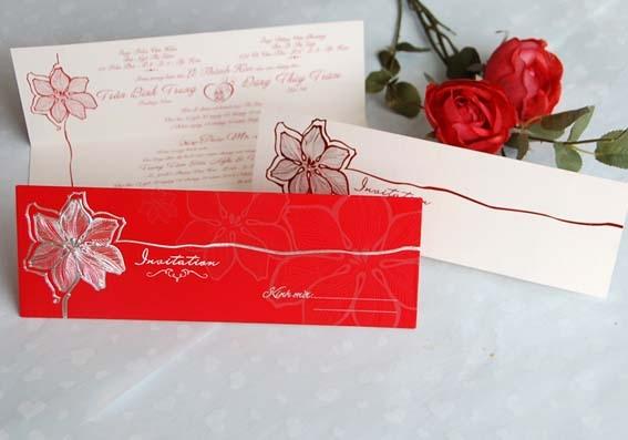 Thiệp cưới 3D Dài