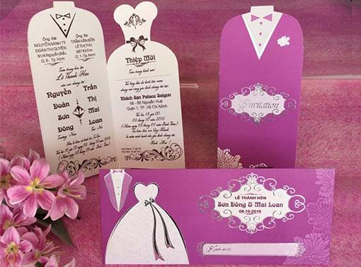 Thiệp cưới Dài