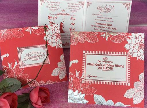 Thiệp cưới Vuông