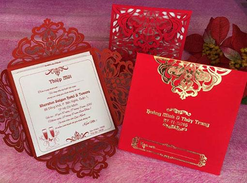 Thiệp cưới Laser Vuông