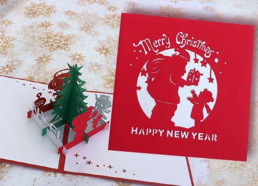 Thiệp Pop-up Noel Nhỏ