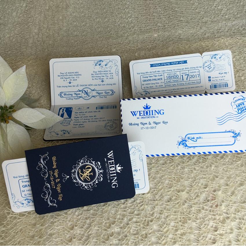 Thiệp cưới Passport