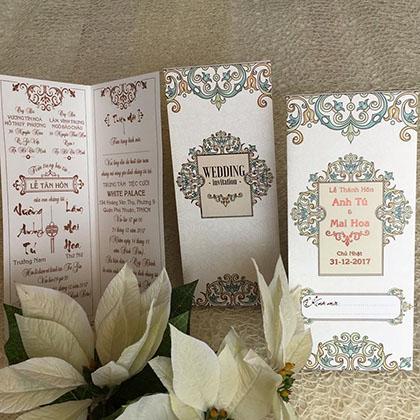 Thiệp cưới Offset Dài