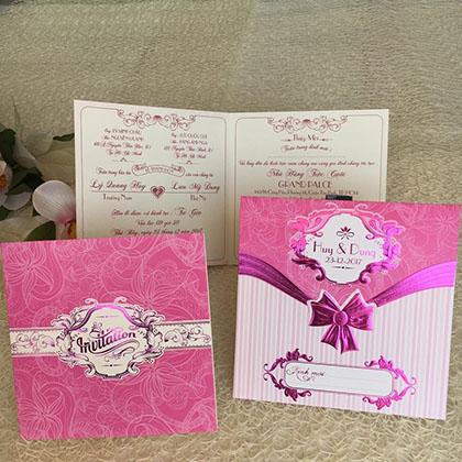 Thiệp cưới 3D Vuông