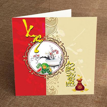 Thiệp In Tết Vuông IV-T-1466-C