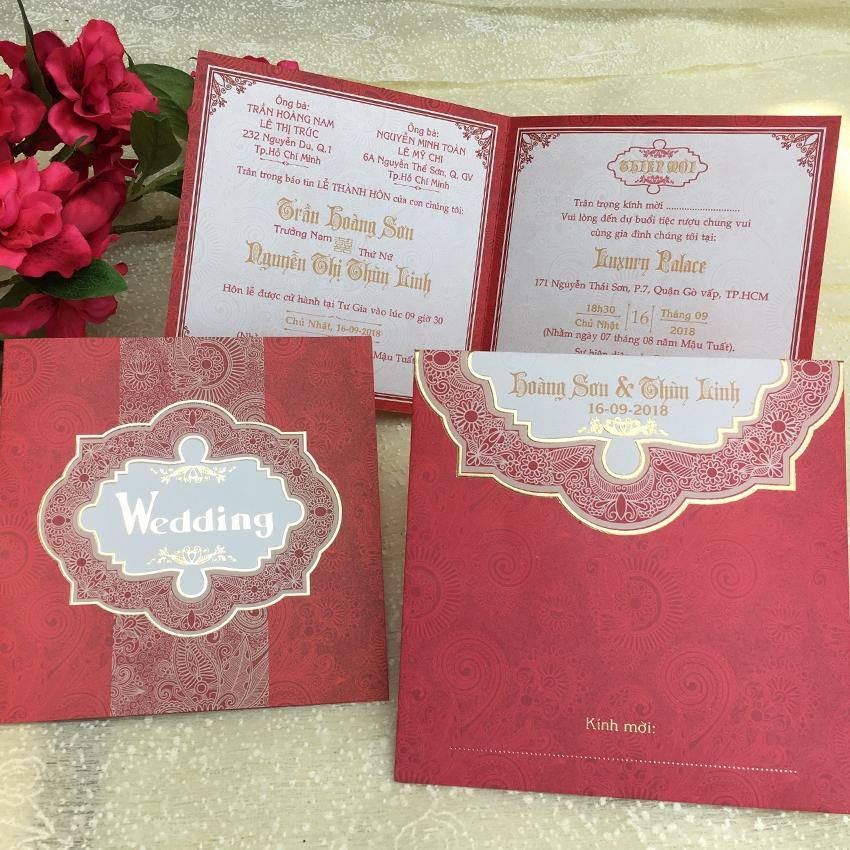 Thiệp cưới Offset Vuông