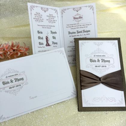 Thiệp cưới Kiểu Bìa Sách Lớn