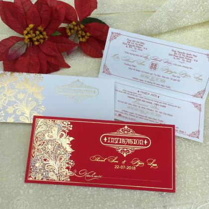 Thiệp cưới Laser Dài
