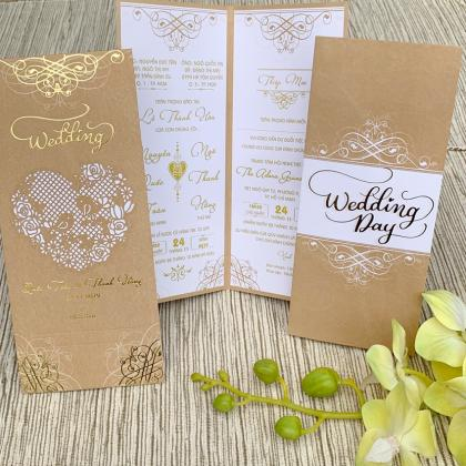 Thiệp cưới lazer dài