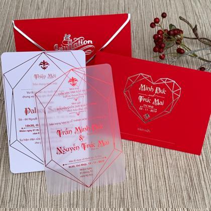 Thiệp cưới Plastic