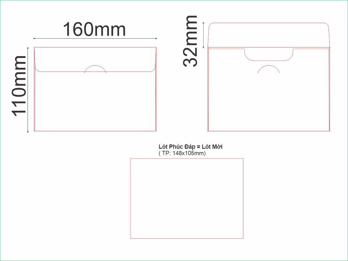 PĐ1-Bao Thư Phúc Đáp lớn 160X110mm