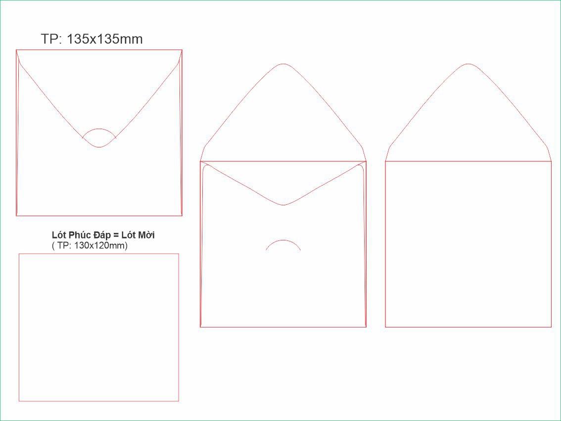 PĐ5-Bao thư phúc đáp vuông 135x135mm