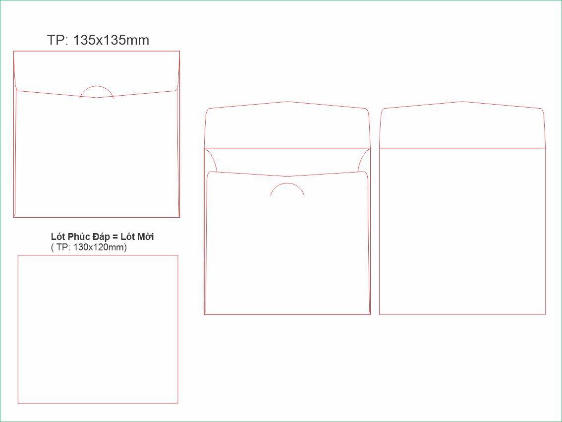 PĐ6-Bao thư phúc đáp vuông 135x135mm
