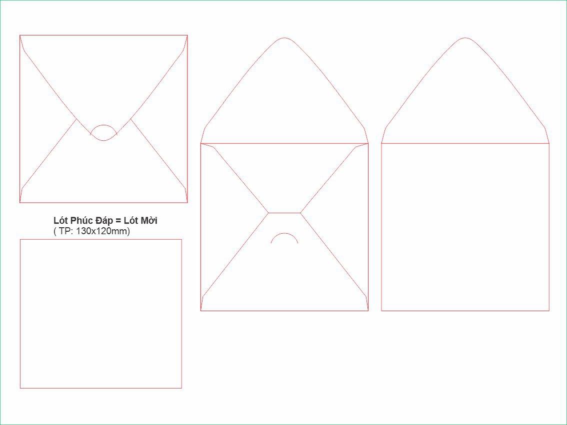 PĐ7-Bao thư phúc đáp vuông 135x135mm