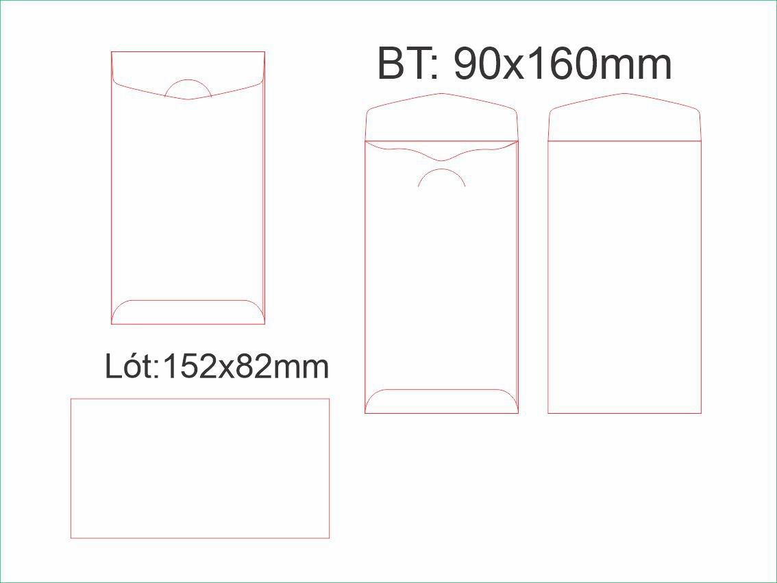 PĐ8-Bao thư phúc đáp dài 90x160mm