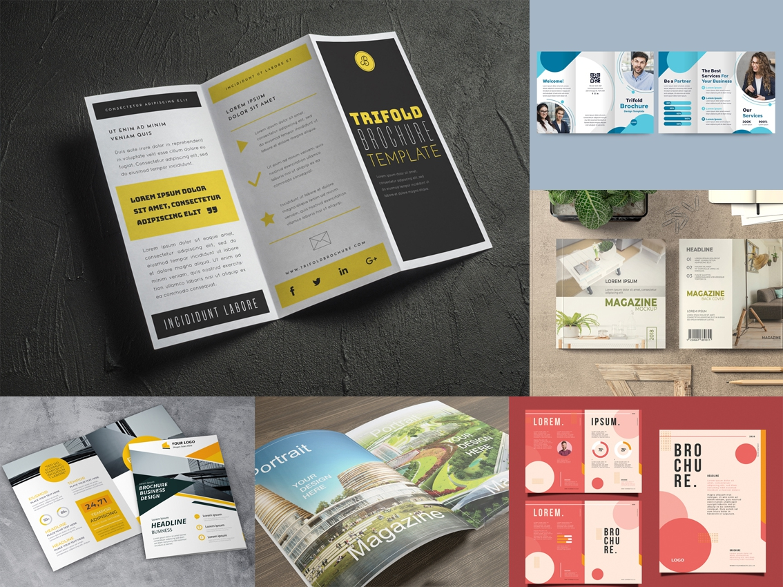 In nhanh KTS Tờ rơi - tờ gấp - brochure - Catalogue